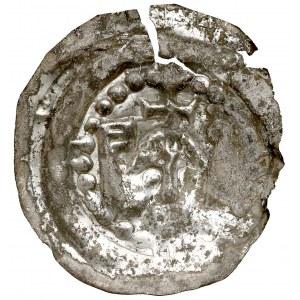 Henryk I Brodaty, Brakteat - głowa z krzyżem, pomiędzy proporcem, a wieżą - rzadkość