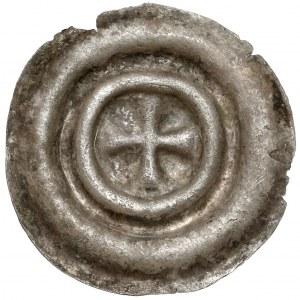 Brakteat - krzyż w obwódce - Ks. Rugijskie (Pomorze Zachodnie)