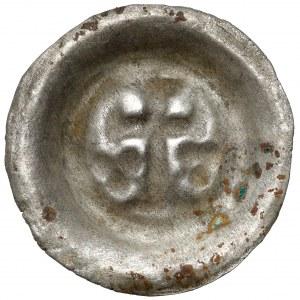 Zakon Krzyżacki, Brakteat - Krzyż łaciński (1317-1328) - RZADKI