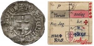 Kazimierz IV Jagiellończyk, Szeląg Toruń - 2x KASIMIR - b.rzadki - ex. Kałkowski