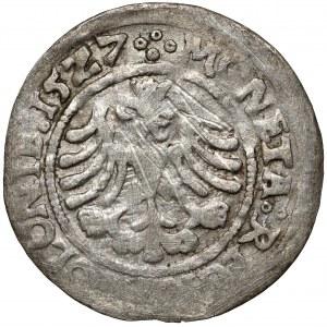 Zygmunt I Stary, Grosz Kraków 1527 - gotycka korona - ex. Kałkowski