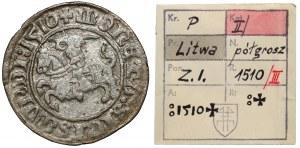 Zygmunt I Stary, Półgrosz Wilno 1510 - ex. Kałkowski