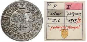 Zygmunt I Stary, Półgrosz Wilno 1512 - ex. Kałkowski