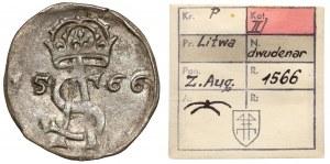 Zygmunt II August, Dwudenar Wilno 1566 - ex. Kałkowski
