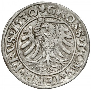 Zygmunt I Stary, Grosz Toruń 1530 - PRVS - miecz w prawo - rzadki