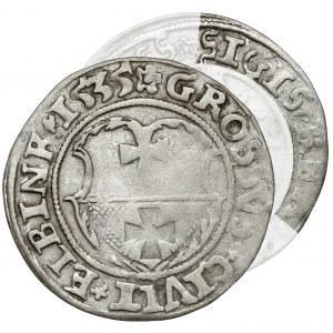 Zygmunt I Stary, Grosz Elbląg 1535 - bez I - rzadki