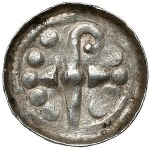 Denar krzyżowy CNP VII - z pastorałem w prawo