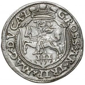 Zygmunt II August, Trojak Wilno 1563 - bez DG - LI