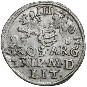 Stefan Batory, Trojak Wilno 1582 - inny portret - bardzo ładny