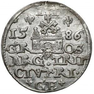 Stefan Batory, Trojak Ryga 1586 - LI