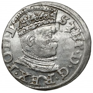 Stefan Batory, Trojak Ryga 1586 - PO