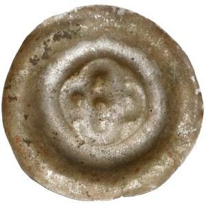 Brakteat - rozeta czterolistna