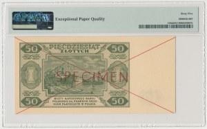 50 złotych 1948 - SPECIMEN - AA 1234567 8900000