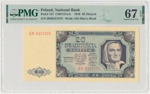 20 złotych 1948 - HM