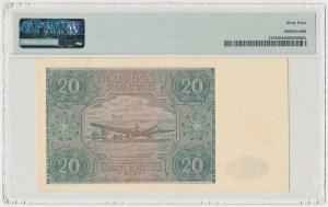 20 złotych 1946 - A - mała litera