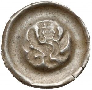 Czechy, Przemysł II Ottokar (1253-1278) Brakteat - Gryf z głową króla w koronie