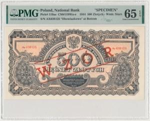 500 złotych 1944 ...owe - Ax z nadrukiem WZÓR