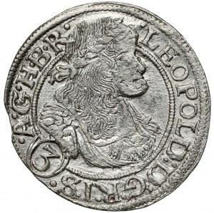 Śląsk, Leopold I, 3 krajcary 1669 SHS, Wrocław