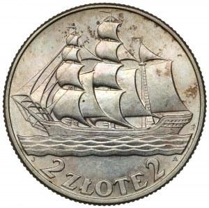 Żaglowiec 2 złote 1936