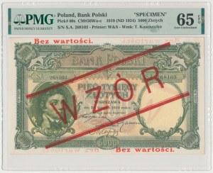 5.000 złotych 1919 - WZÓR - wysoki nadruk