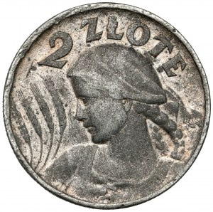 2 złote 1925 Kobieta i kłosy - FALSYFIKAT z epoki - b.ładne