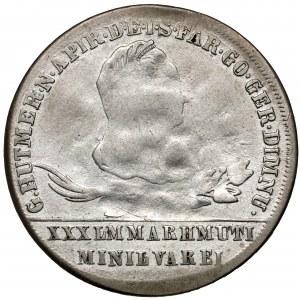 Ks. oświęcimsko-zatorskie, 30 krajcarów 1776 - dawne fałszerstwo