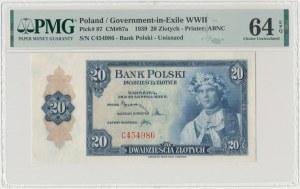 ABNCo, 20 złotych 1939 - C