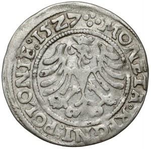 Zygmunt I Stary, Grosz Kraków 1527 - gotycka korona - RZADKI