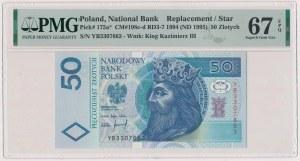 50 złotych 1994 - YB - seria zastępcza
