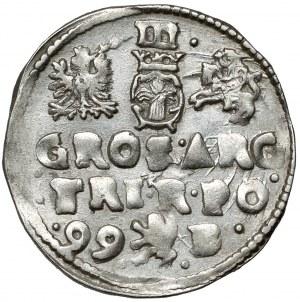 Zygmunt III Waza, Trojak Bydgoszcz 1599 - Lewart bez tarczy