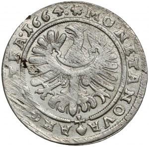 Śląsk, Chrystian wołowski, 15 krajcarów 1664, Brzeg