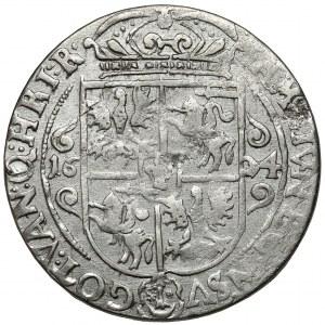 Zygmunt III Waza, Ort Bydgoszcz 1624 - PRV M - rzadka korona