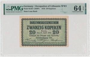 Poznań, 20 kopiejek 1916