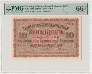 Poznań, 10 ruble 1916 - E