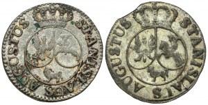 Poniatowski, 6 groszy 1794 - pierwszy typ - odmiany (2szt)