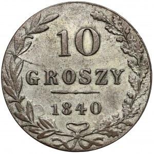 10 groszy 1840 MW, Warszawa