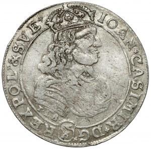 Jan II Kazimierz, Ort Bydgoszcz 1668 TLB - krzyżyki