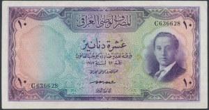 Iraq, 10 Dinars 1947 (1953)