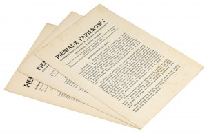 Pieniądz Papierowy, Rok 1926 nr 1-2 i 1928 nr 2 (3szt)