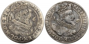 Zygmunt III Waza, Ort Gdańsk 1624 i 1625 - zestaw (2szt)