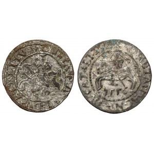 Zygmunt II August, Półgrosz Wilno 1556 i 1650 - FALSYFIKATY z epoki (2szt)