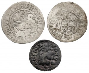 MIX Kazimierz IV - Jan II Kazimierz, Półgrosze i fals boratynki (3szt)