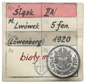 Löwenberg (Lwówek), 5 fenigów 1920 - ex. Kałkowski