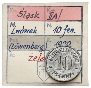 Löwenberg (Lwówek), 10 fenigów 1920 - ex. Kałkowski