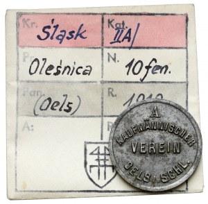 Oels (Oleśnica), 10 fenigów 1918 - ex. Kałkowski