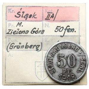Grünberg (Zielona Góra), 50 fenigów 1918 - ex. Kałkowski