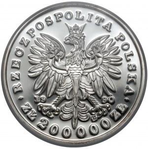 DUŻY Tryptyk 200.000 złotych 1990 Piłsudski