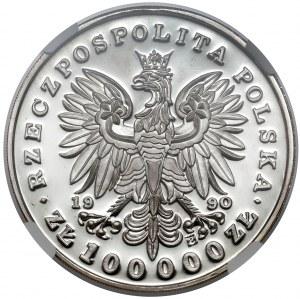 Mały Tryptyk 100.000 złotych 1990 Piłsudski