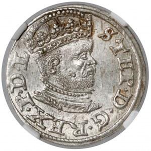 Stefan Batory, Trojak Ryga 1586 - P.D.L - menniczy