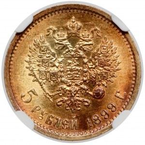 Rosja, Mikołaj II, 5 rubli 1899 ФЗ, Petersburg